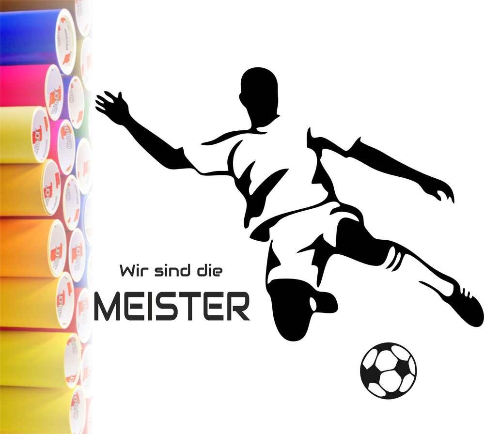Schön Wandtattoo Fußball Galerie Von Aufkleber Fußball, Wir Sind Die Meister, Vinyl